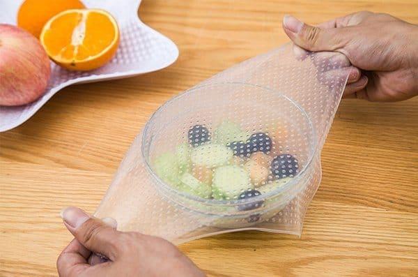Многоразовая силиконовая обёртка для тарелок