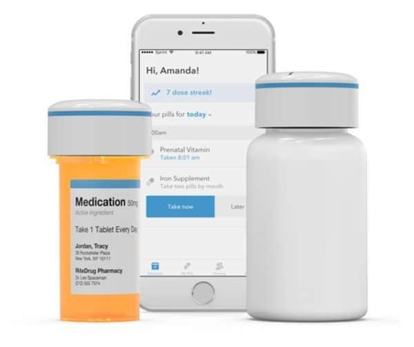 Пузырёк для таблеток с функцией напоминания о приёме Pillsy