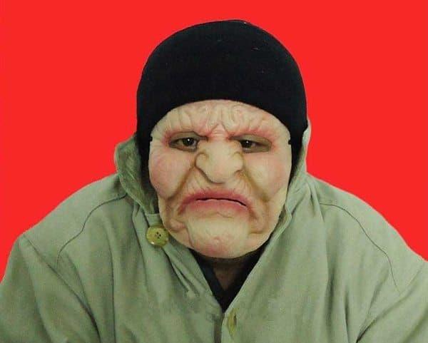 Латексная маска злой бабки