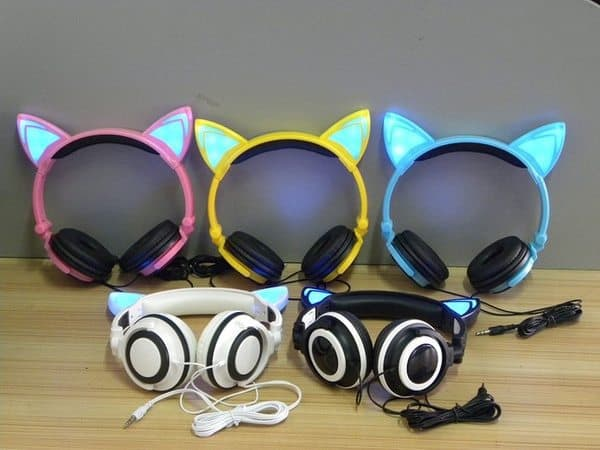 Наушники со светодиодными ушками Jinserta