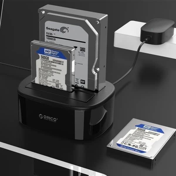 Двойная док-станция Orico для копирования HDD и SSD