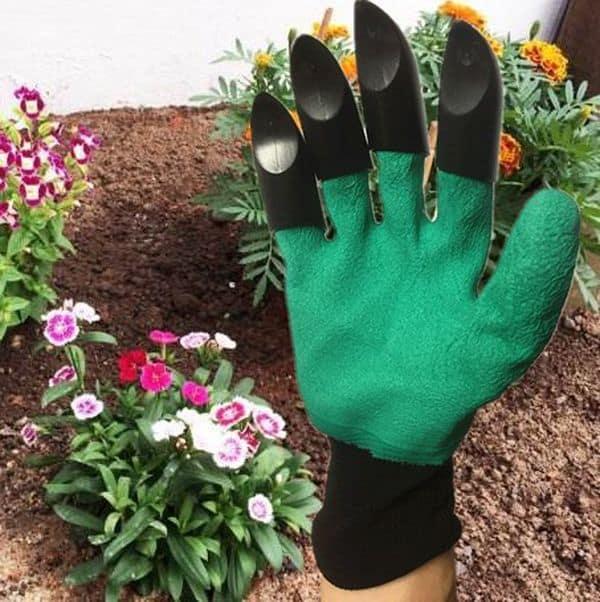 Садоводческие перчатки с острыми насадками для копания
