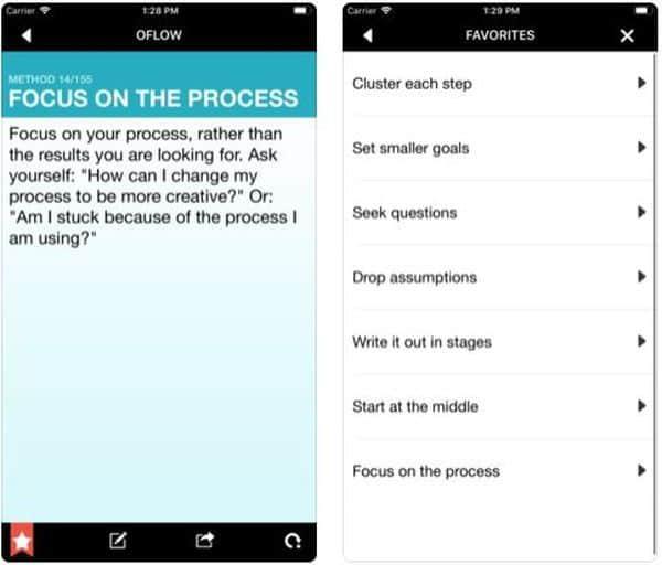 Oflow — приложение со 150 методами выхода из творческого тупика