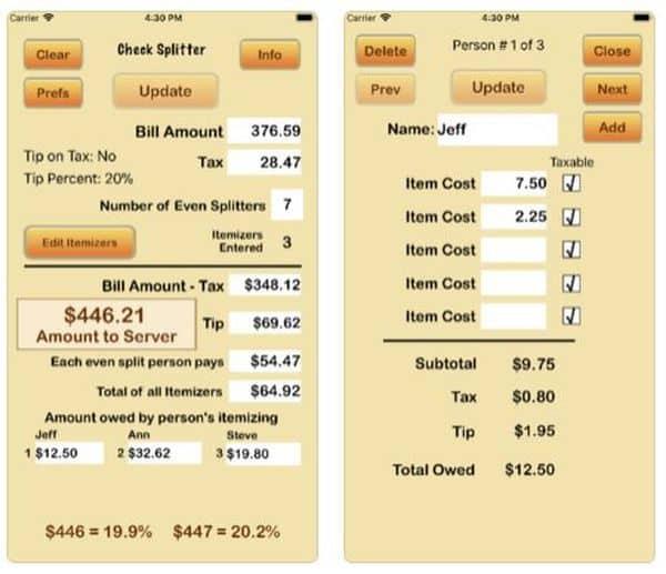 Check Splitter — приложение для подсчёта доли в общем счёте