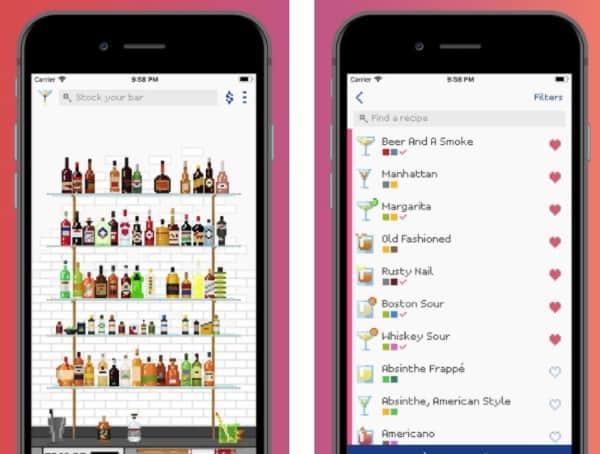 Mixel - пиксельное приложение с рецептами 700 коктейлей