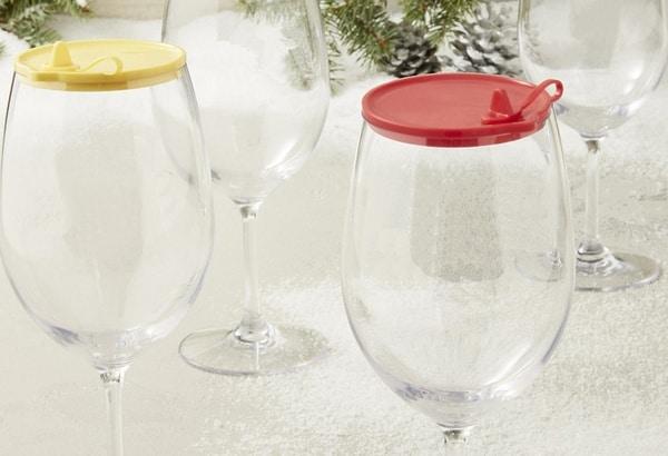 Силиконовые крышки для винных бокалов