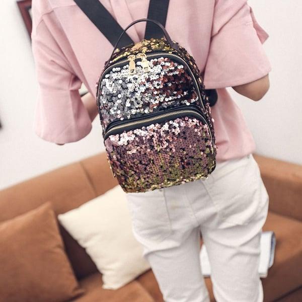 Женский рюкзачок с блёстками