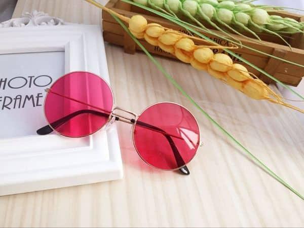 Круглые очки в стиле хиппи