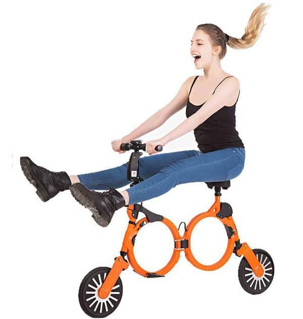 Ультракомпактный велосипед-раскладушка
