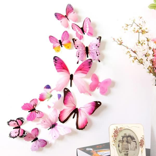 Декоративные наклейки в виде бабочек
