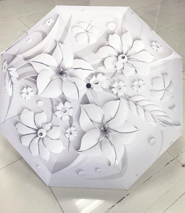 Автоматический зонтик с цветочным 3D-узором