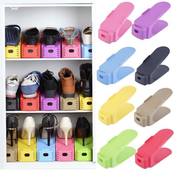 Пластиковая стойка для хранения обуви