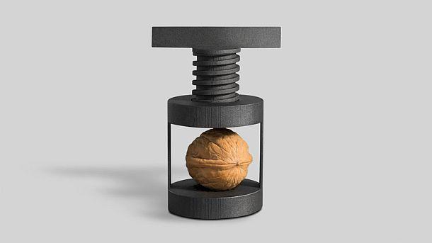 Винтовой пресс для колки орехов Torq Nutcracker