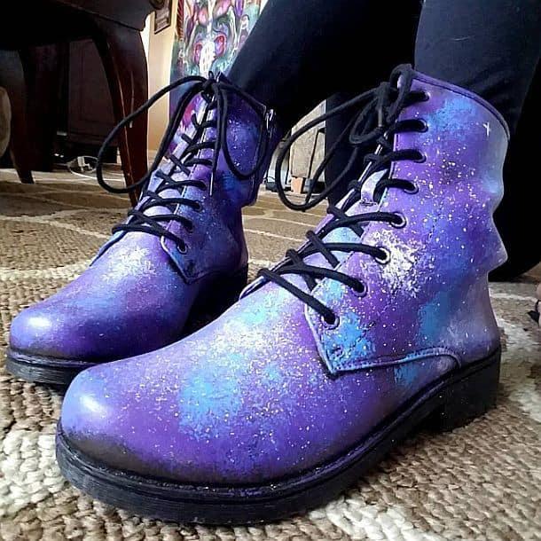 Ботинки с ручной росписью в космическом стиле Galaxy