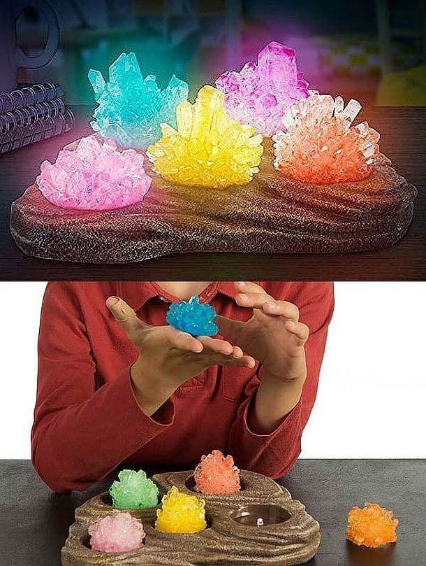 Комплект для выращивания кристаллов и сборки самодельного ночника Grow Your Own Crystal Nightlight