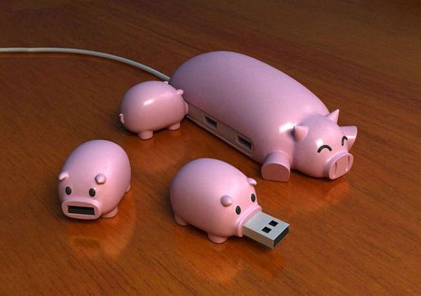 USB хаб в виде свинки с поросятами Pig USB Hub