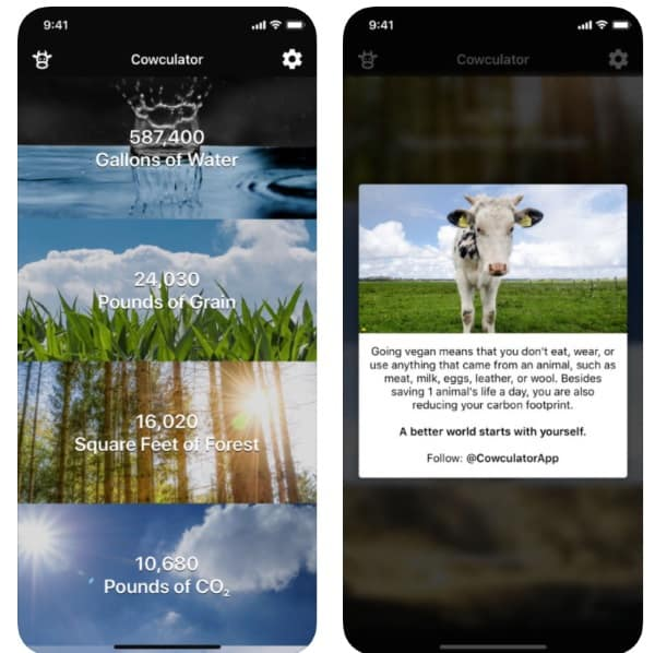Cowculator - приложение-мотиватор для желающих стать вегетарианцем