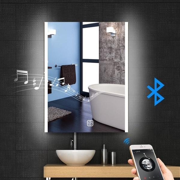 Зеркало для ванной с LED-подсветкой и BT-колонкой
