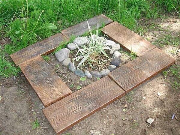 Декоративная форма для отлива бетонных плит