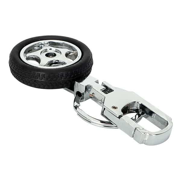 Брелок с массивным карабином и колесом