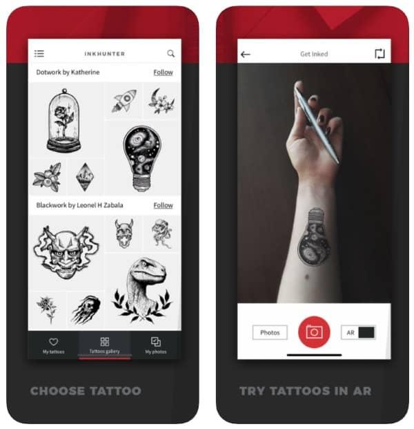 INKHUNTER — приложение для «примерки» татуировок в дополненной реальности