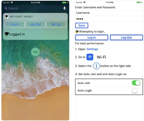 WiFi Assist Widget — приложение для быстрой авторизации в Wi-Fi-сетях