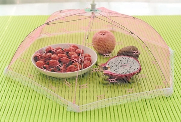 Складной зонтик для еды