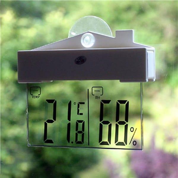 Прозрачный термометр на окно