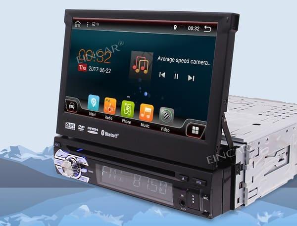 Головное устройство со складным экраном
