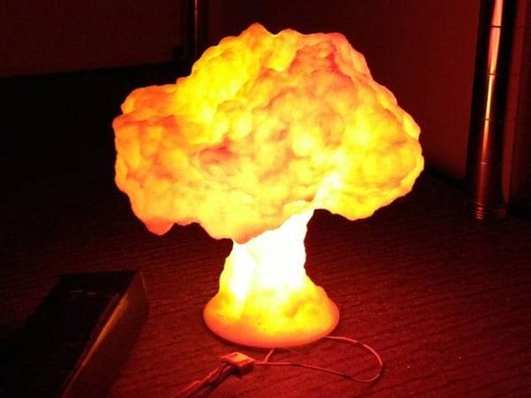 """Настольная лампа """"Ядерный грибок"""""""