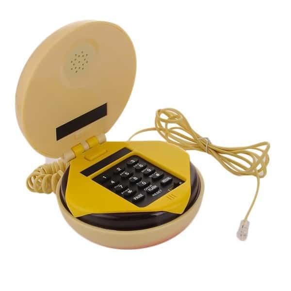 Настольный телефон в виде чизбургера