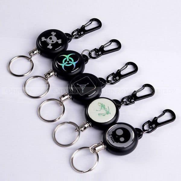 Кольцо для ключей со стальной верёвкой