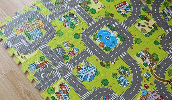 Детский модульный игровой коврик из мягких плиток