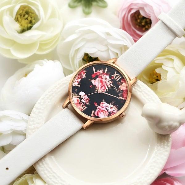 Часики с цветочным рисунком