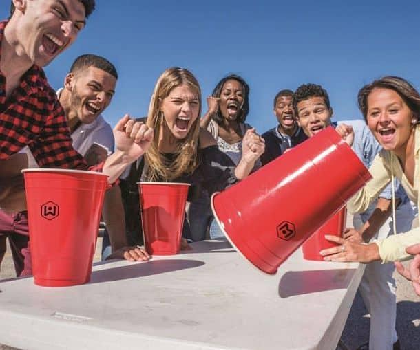 Гигантские пластиковые стаканчики Wicked Big для игры в Flip Cup