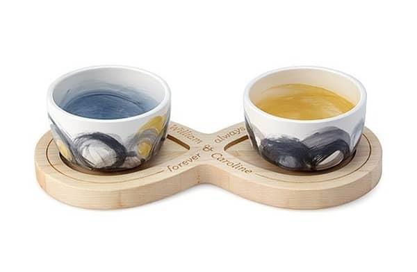 """Подарочный набор из 2 чашек и подставки """"Бесконечность"""""""