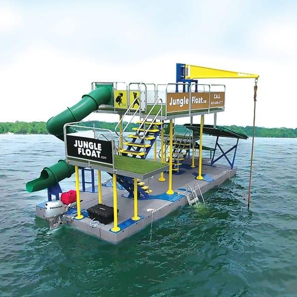 Передвижной мини-аквапарк на понтонах Jungle Float