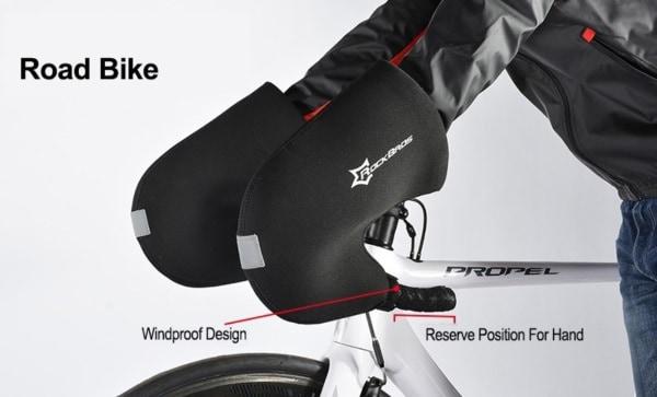 Зимние велосипедные перчатки на руль Rockbros
