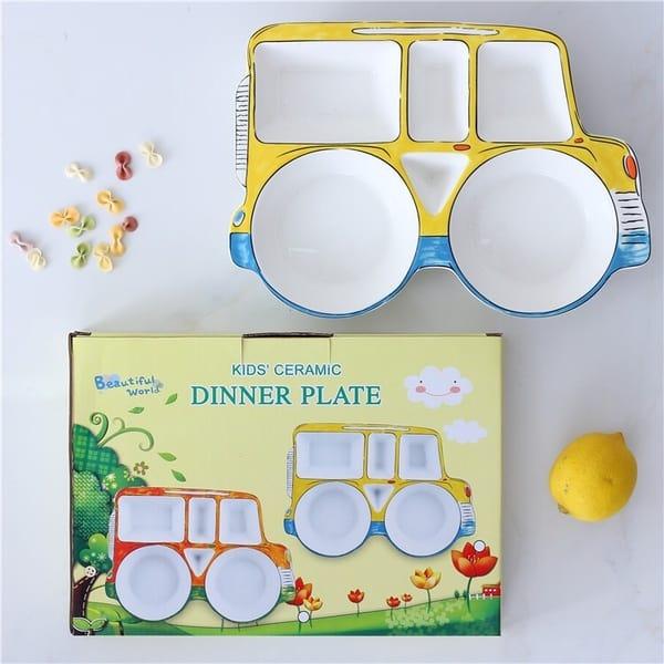 Детская многосекционная тарелка в виде самолёта