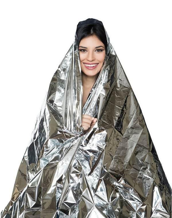 Спасательное одеяло из фольги