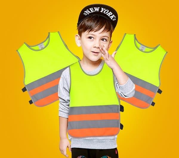 Жилет с жёлтыми и оранжевыми элементами для мальчиков