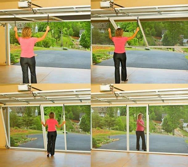 Сменная гаражная дверь с антимоскитной сеткой Lifestyle Screens Garage Door