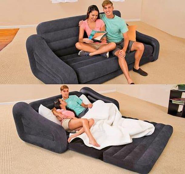 Диван-кровать надувной конструкции Intex