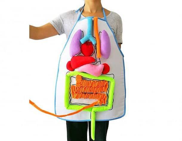 Детский фартук для обучения основам анатомии