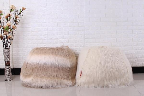 Мохнатый чехол для самостоятельного изготовления пуфика