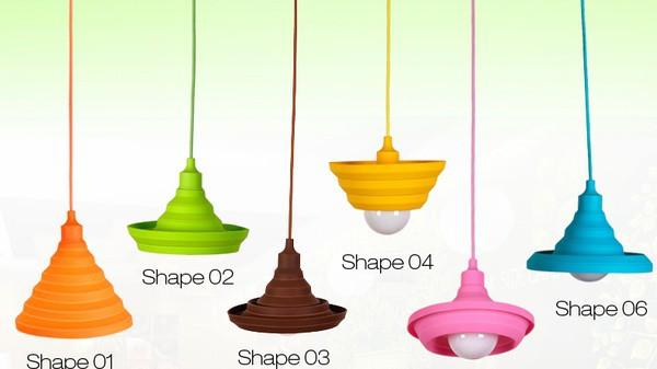 Красочные силиконовые светильники-гармошки на потолок