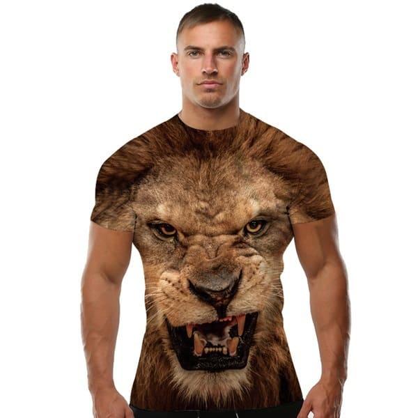 3D-футболка со львом