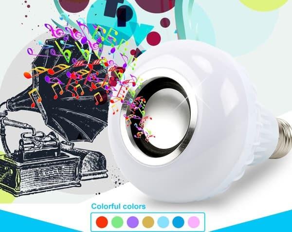 Музыкальная лампочка с переключаемым цветом