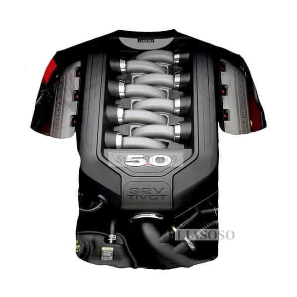 Футболка с двигателем Ford Mustang