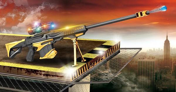 Снайперская винтовка, стреляющая водяными шариками